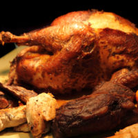 roasted turkey as nice thanksgiving day background