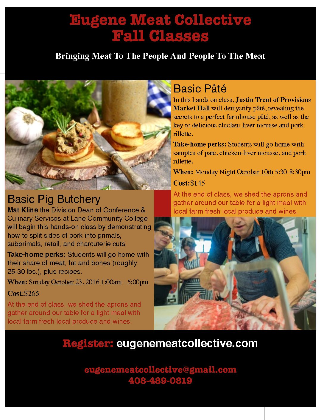 We donated a couple pigs to the eugene meat collective for this amazing class there s still spots available